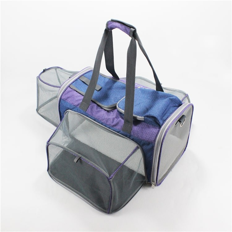 Airline Approved Wholesale Fashion Soft Sided Foldable Travel Portable Expandable Tote Handbag Backpack Bag Cat Dog Pet Carrier