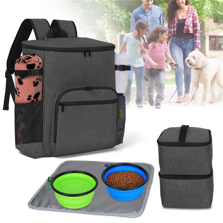 Eco-Friendly Stocked Kit Travelling Storage Food Snack Cat Pet Travel Bag Dog For Bowl Dog Food