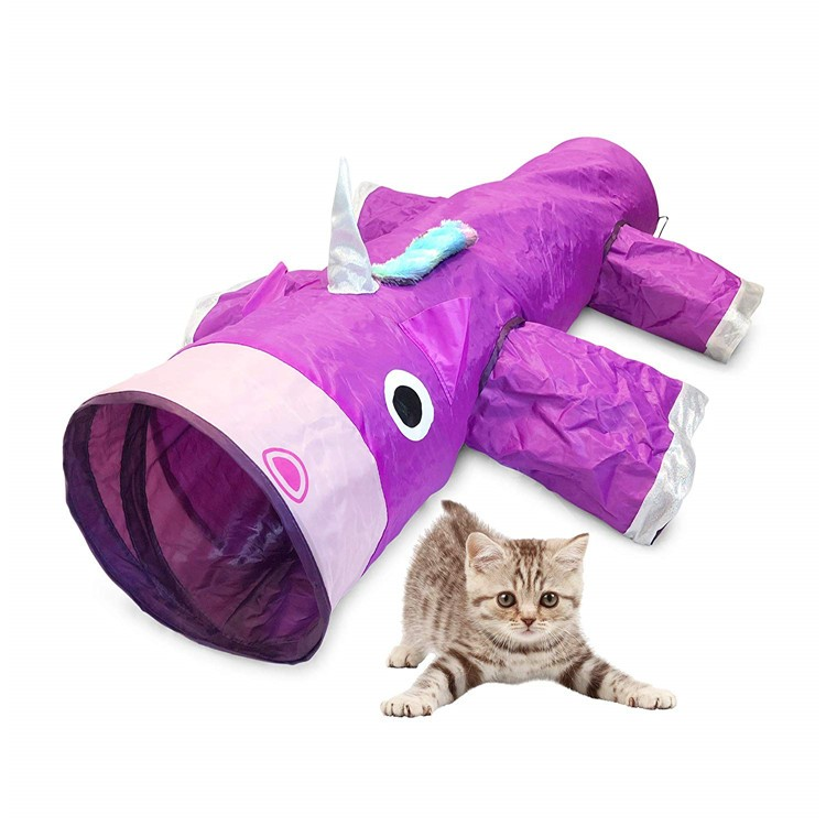 Large Outdoor Indoor Best Luxury Fun Foldable Small Pet Cat Run Crinkle Play Tunnel Tent Toy System Cats Tunnel