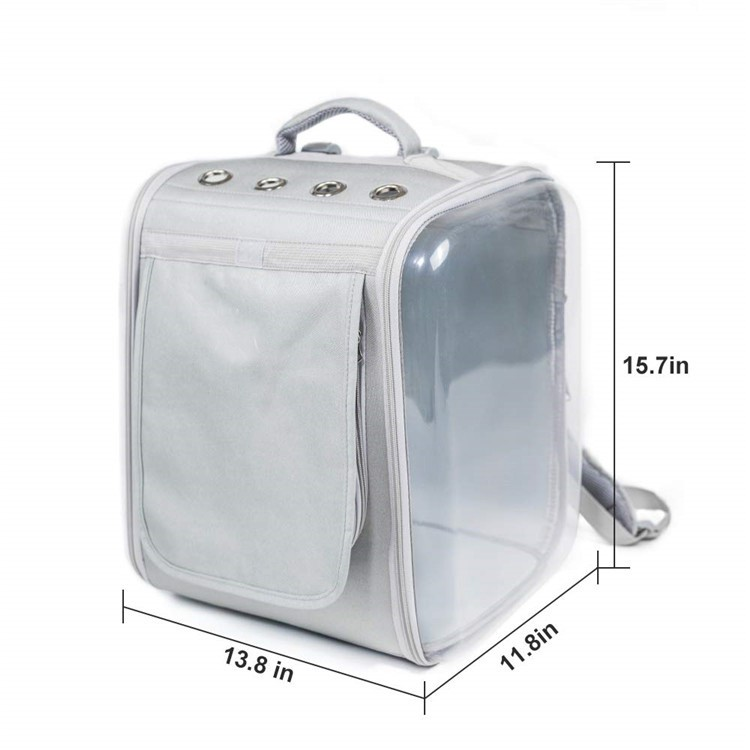 Wholesale Cute Transparent Cat Carrier Capsule Dog Bag Backpack For Cat