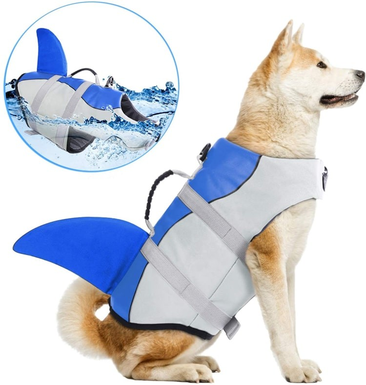 Wholesale Cheap Reflective Ripstop Adjustable Water Swim Buoyancy Aid Small Large Breed Vest Pet Dog Safety Life Jacket For Dog