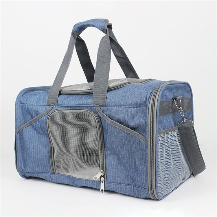 Wholesale Airline Approved Soft Sided Portable Foldable Expandable Handbag Tote Bag carry Cats Dogs Pet Carrier