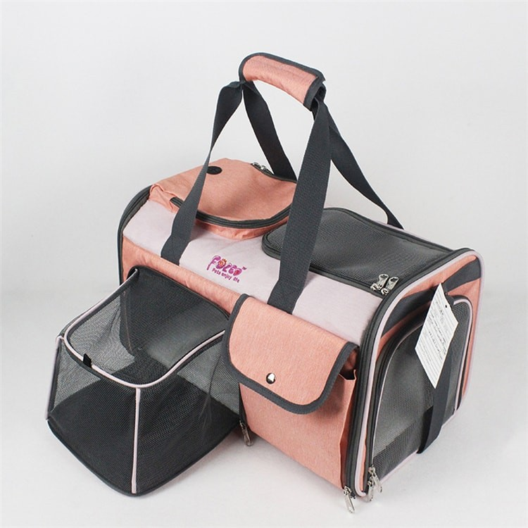 Luxury Airline Approved Soft Sided Portable Foldable Expandable Handbag Tote Bag Cats Dogs Pet Carrier