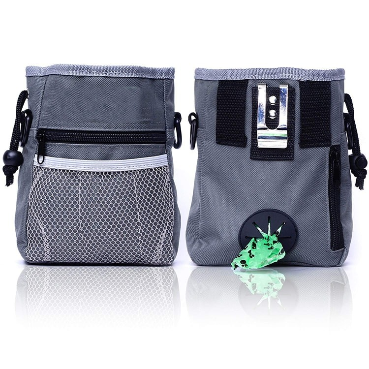 Removable Waist Belt Tote Carry Pet Dog Treat Pouch Training Bag For Small To Large Dogs