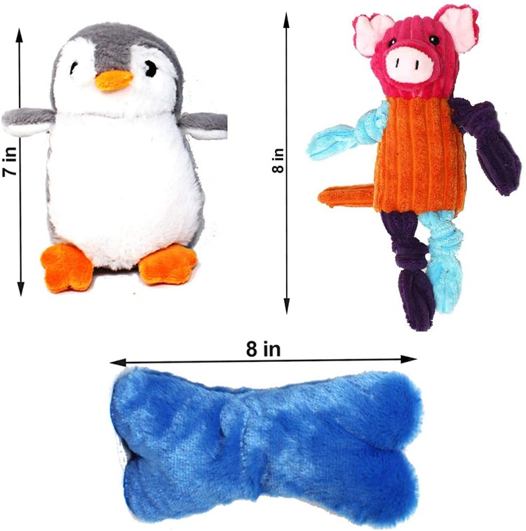 Cute Interactive Squeaky Chew Durable Plush Puppy Chew Pet Dog Toys
